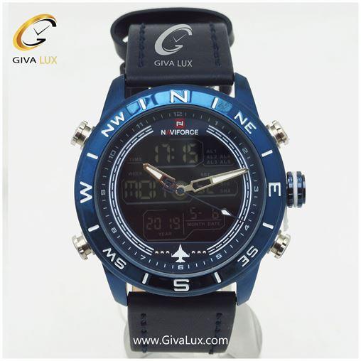 ساعت مردانه صفحه سورمه ای مدل NF۹۱۴۴M