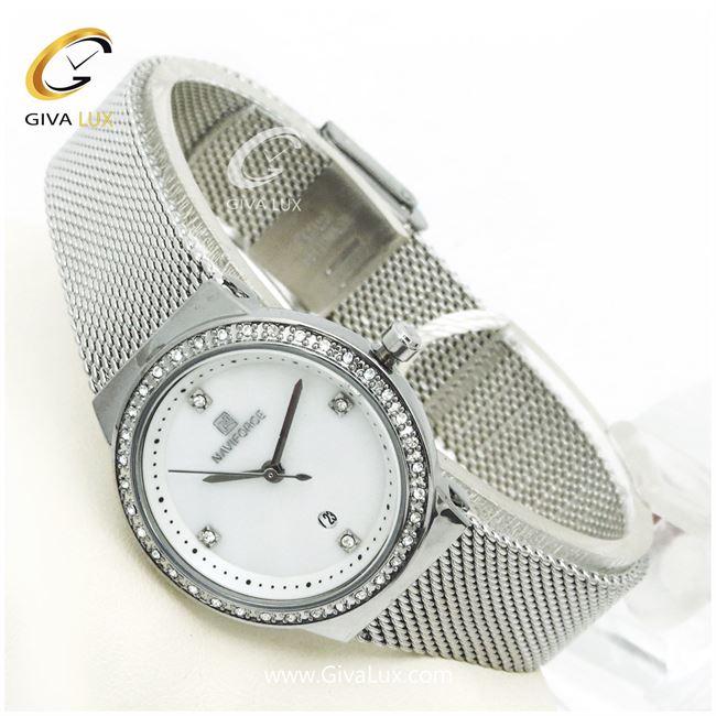 ساعت زنانه نوی فورس نقره ای  مدل nf5005L