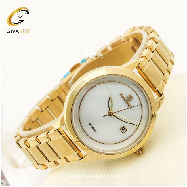 ساعت زنانه نیوی فورس طلایی مدل NF5008L