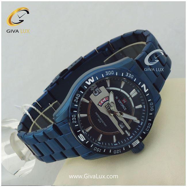 ساعت مردانه بند فلزی سورمه ای نوی فورس مدل NF9157