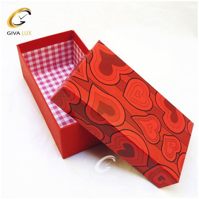 جعبه کادویی قرمز زنگ 15 سانتی متری