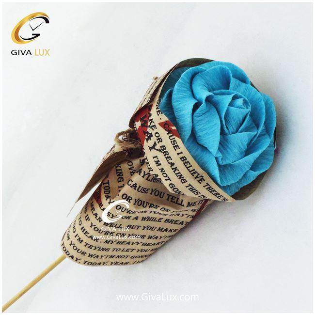 گل کاغذی آبی