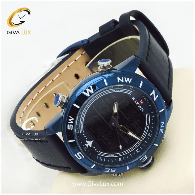 ساعت مردانه صفحه سورمه ای مدل NF9144M