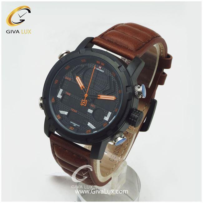 ساعت مردانه نوی فورس قهوه ای مدل NF9160M
