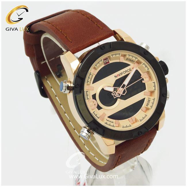 ساعت مردانه بند چرمی نوی فورس مدل NF9097M