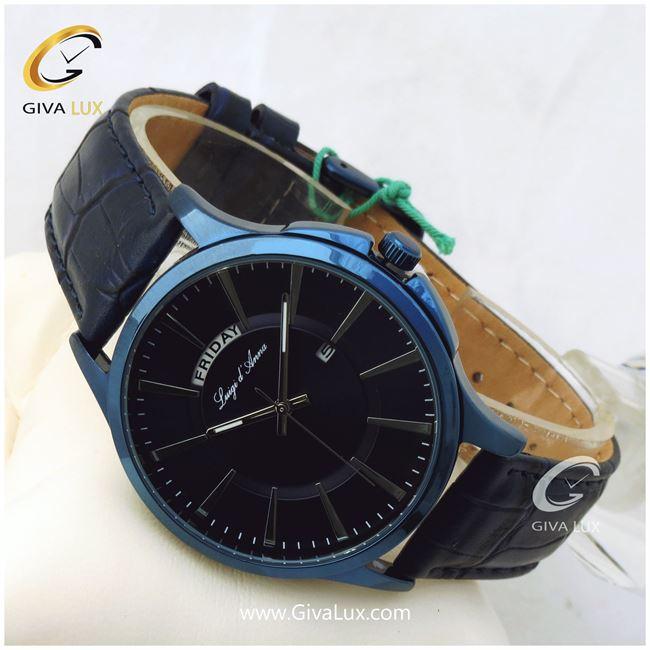 ساعت مچی مردانه دو تقویم بند چرمی لوئیجی د آنا LDA مدل KG2073