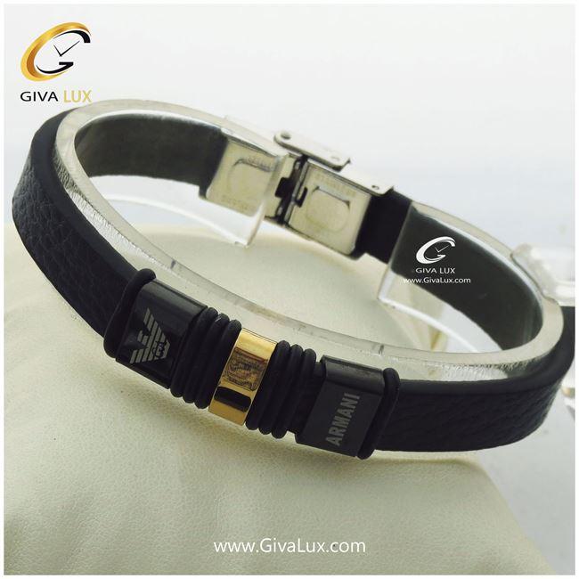 دستبند چرمی مردانه امپریو آرمانی