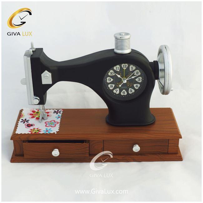 ساعت رومیزی صفحه طرح چرخ خیاطی