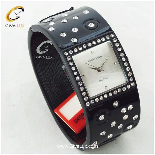 ساعت مچی دستبندی چارلز دلون نگین دار مدل 4556L
