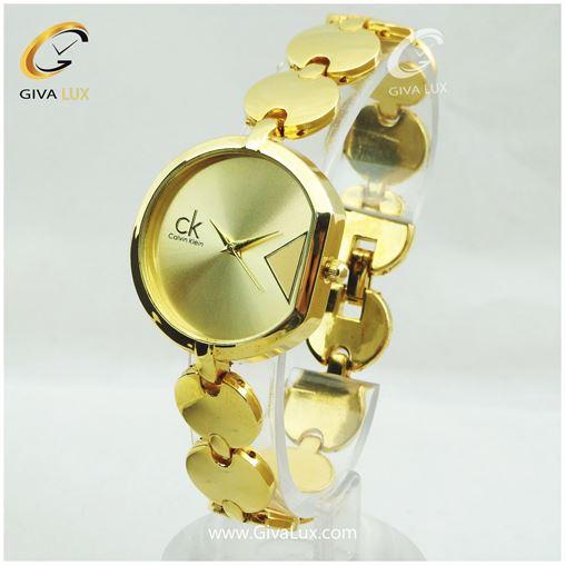 ساعت زنانه کلوین کلین بند فلزی طلایی