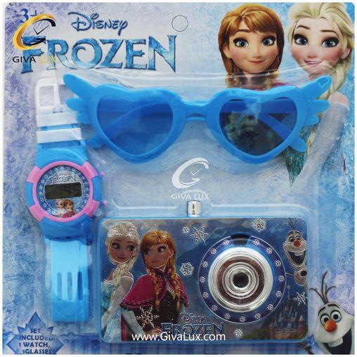 ست بچگانه ساعت و عینک و دوربین frozen