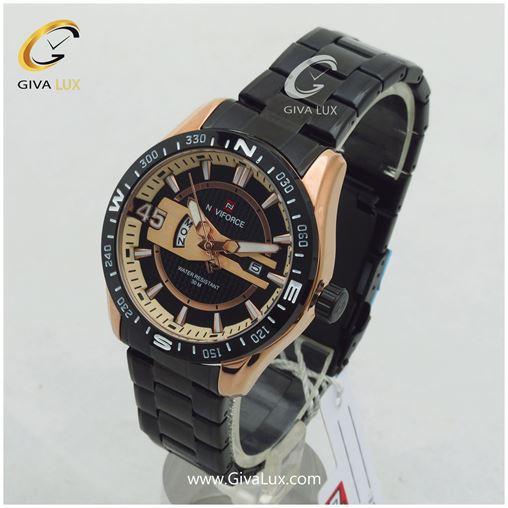 ساعت مردانه بند فلزی مشکی نوی فورس مدل NF9157