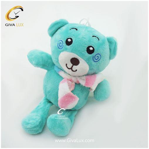 خرس پولیشی 24 سانتی متری رنگ آبی تیفانی