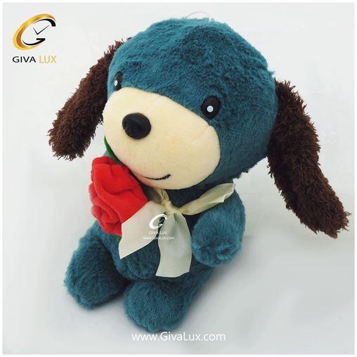 سگ پولیشی 24 سانتی متری رنگ آبی