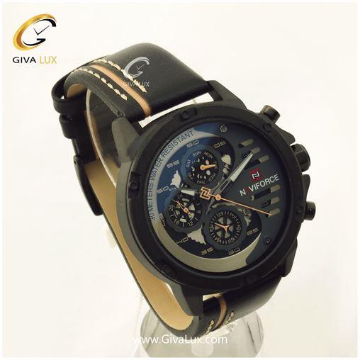 ساعت مردانه چرمی مشکی مدلNF9110M