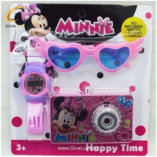ست بچگانه ساعت و عینک و دوربین Minnie