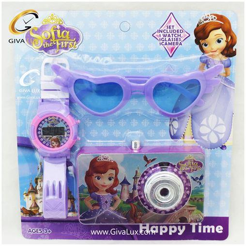 ست بچگانه ساعت و عینک و دوربین سوفیا