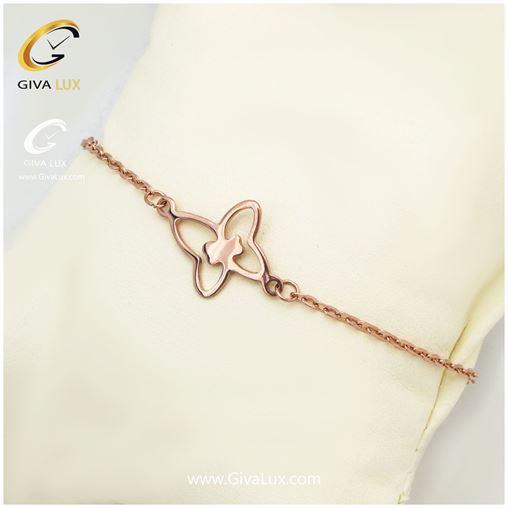 دستبند و پابند طرح پروانه رزگلد