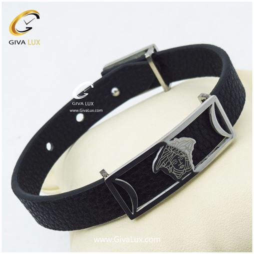 دستبند مردانه بندچرمی ورساچه