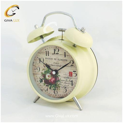 ساعت رومیزی سایز بزرگ رنگ کرم
